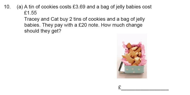 James Allen's Girls' School - 11+ Maths Sample Paper 1 - 2020 Question 10, Numbers, Fractions, Decimals, Word Problems, Algebra, Logical Problems, Money