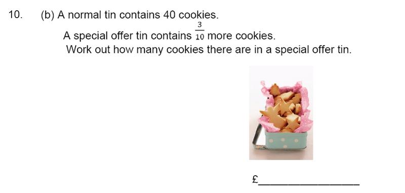 James Allen's Girls' School - 11+ Maths Sample Paper 1 - 2020 Question 11, Numbers, Fractions, Decimals, Word Problems, Algebra, Logical Problems, Money
