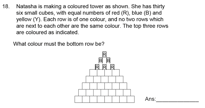 James Allen's Girls' School - 11+ Maths Sample Paper 1 - 2020 Question 22, Numbers, Word Problems, Logical Problems