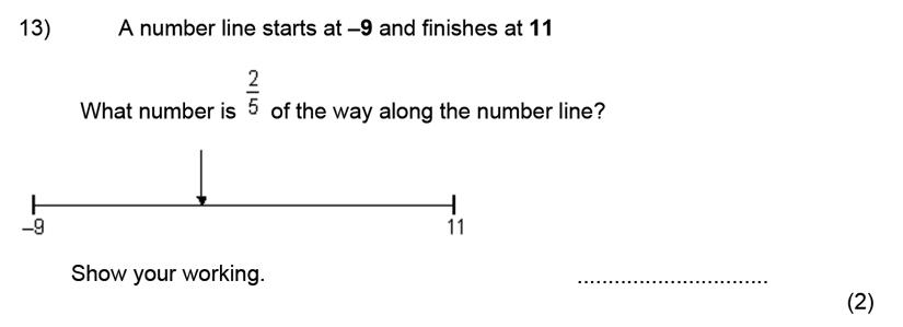 Kent College, Canterbury - 11 Plus Maths Entrance Exam 2020 Question 15, Numbers, Fractions, Number Line, Logical Problems