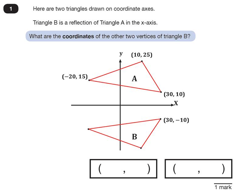 Question 01 Maths KS2 SATs Test Paper 4 - Reasoning Part C