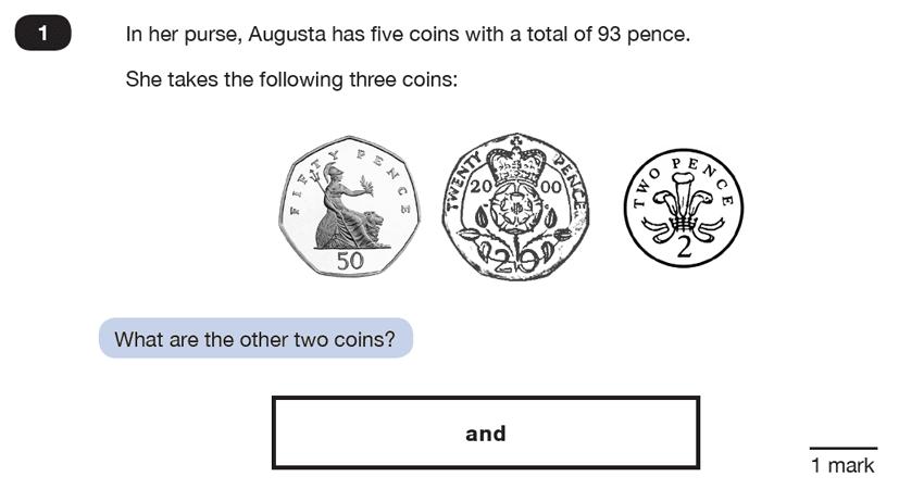 Question 01 Maths KS2 SATs Test Paper 5 - Reasoning Part C