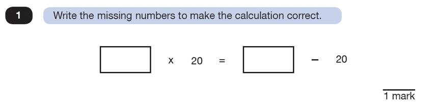 Question 01 Maths KS2 SATs Test Paper 7 - Reasoning Part C