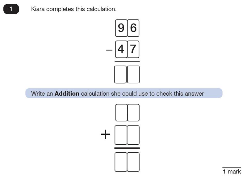 Question 01 Maths KS2 SATs Test Paper 8 - Reasoning Part B