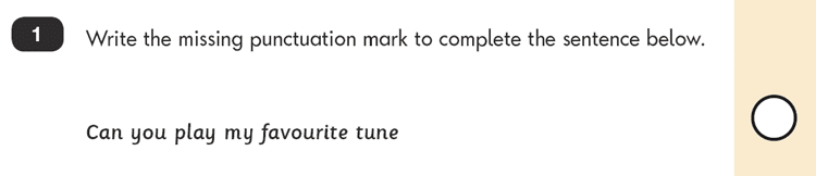 Question 01 SPaG KS1 SATs Papers 2016 - Year 2 English Sample Paper 2, Punctuation