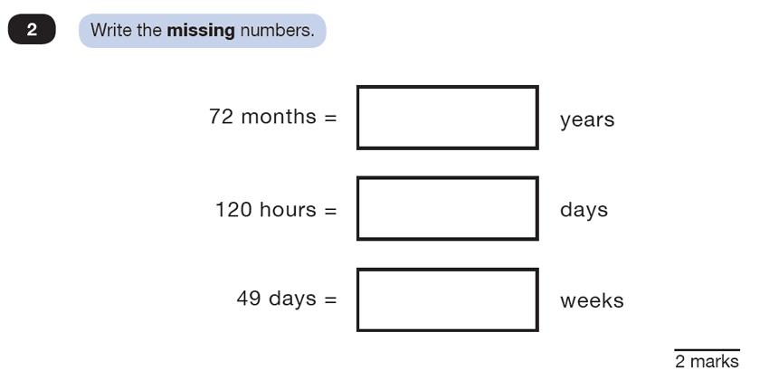 Question 02 Maths KS2 SATs Test Paper 4 - Reasoning Part C