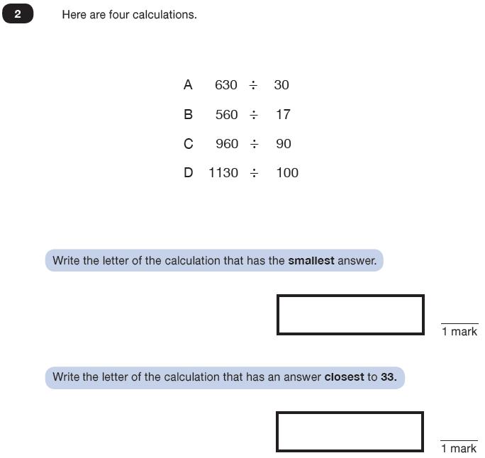 Question 02 Maths KS2 SATs Test Paper 8 - Reasoning Part C