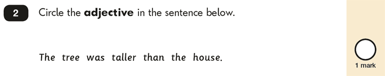 Question 02 SPaG KS1 SATs Papers 2018 - Year 2 English Test Paper 2, Grammatical terms / word classes