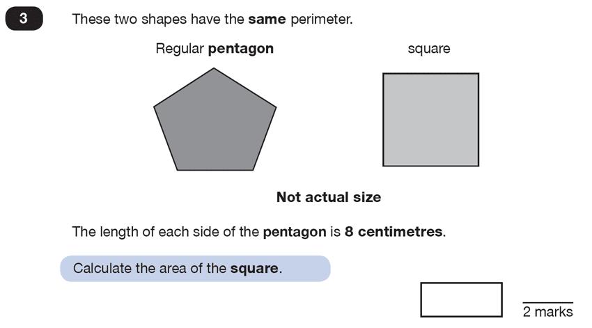 Question 03 Maths KS2 SATs Test Paper 6 - Reasoning Part C