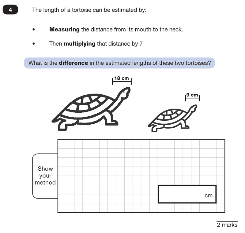 Question 04 Maths KS2 SATs Test Paper 2 - Reasoning Part C