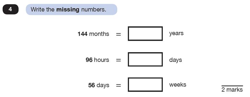Question 04 Maths KS2 SATs Test Paper 6 - Reasoning Part C