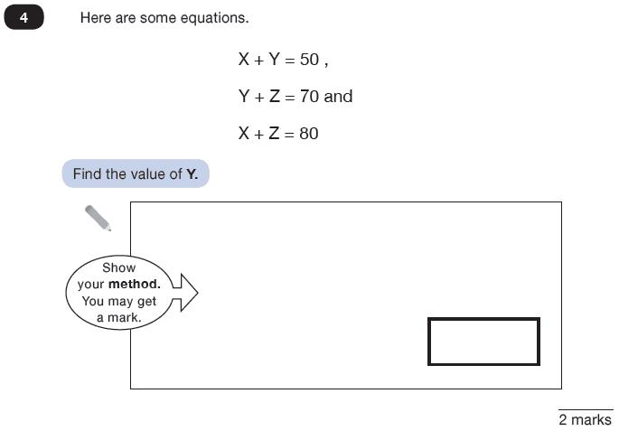 Question 04 Maths KS2 SATs Test Paper 8 - Reasoning Part C