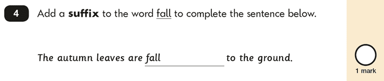 Question 04 SPaG KS1 SATs Papers 2016 - Year 2 English Practice Paper 2, Vocabulary