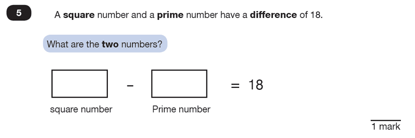 Question 05 Maths KS2 SATs Test Paper 2 - Reasoning Part B