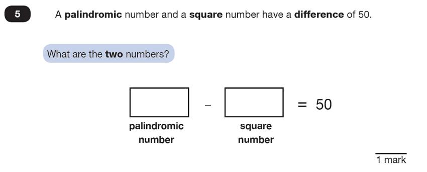 Question 05 Maths KS2 SATs Test Paper 7 - Reasoning Part B