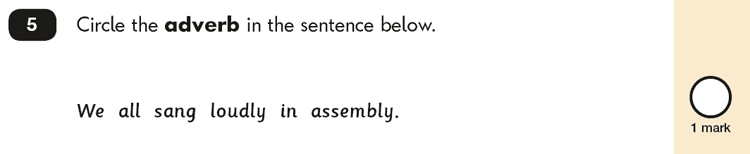 Question 05 SPaG KS1 SATs Papers 2018 - Year 2 English Exam Paper 2, Grammatical terms / word classes