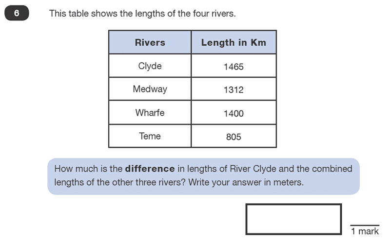 Question 06 Maths KS2 SATs Test Paper 1 - Reasoning Part B