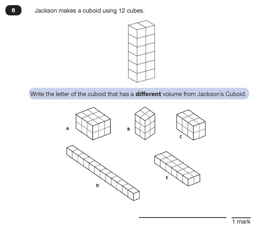 Question 06 Maths KS2 SATs Test Paper 2 - Reasoning Part B