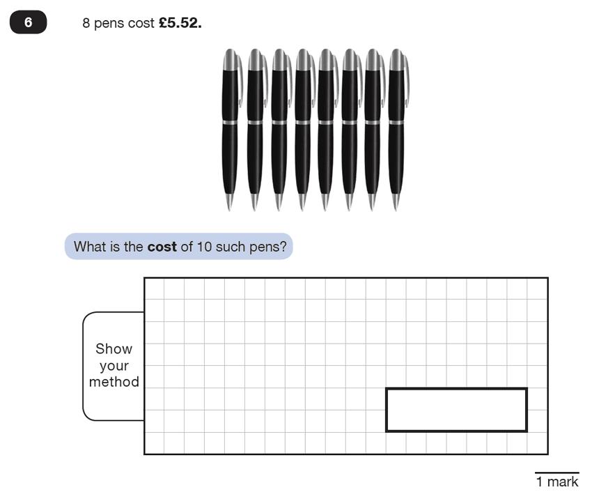 Question 06 Maths KS2 SATs Test Paper 4 - Reasoning Part B
