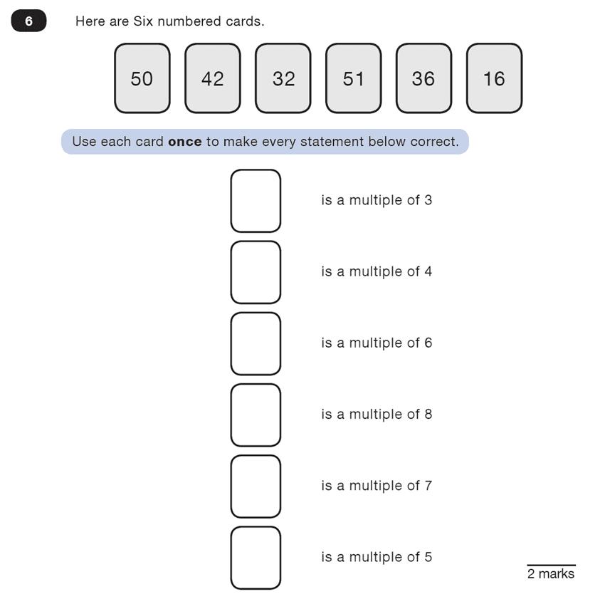 Question 06 Maths KS2 SATs Test Paper 4 - Reasoning Part C