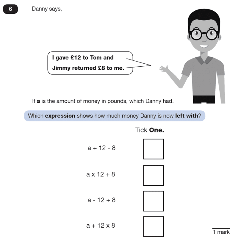 Question 06 Maths KS2 SATs Test Paper 5 - Reasoning Part B