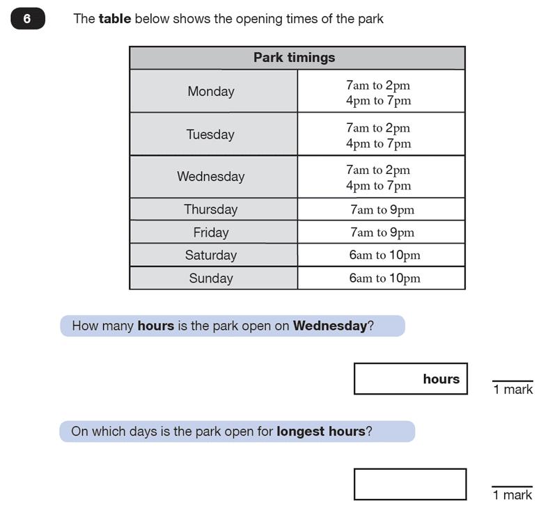 Question 06 Maths KS2 SATs Test Paper 7 - Reasoning Part C