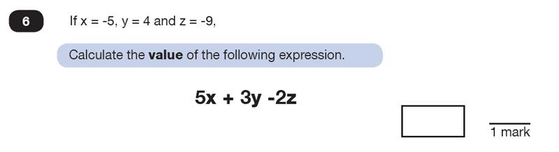 Question 06 Maths KS2 SATs Test Paper 8 - Reasoning Part B