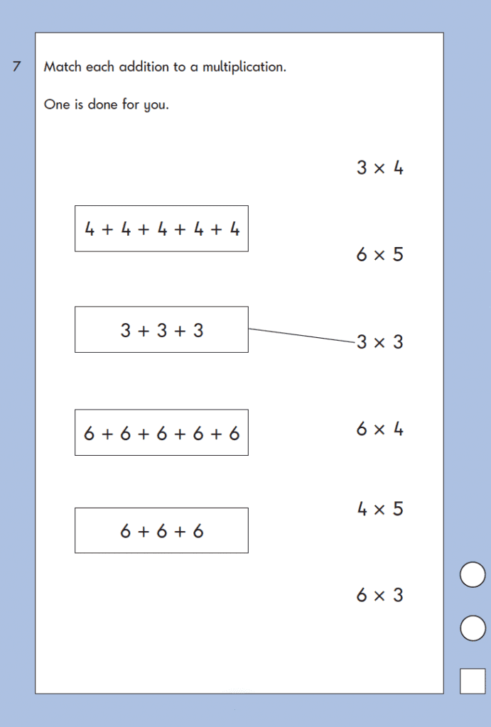 Question 07 Maths KS1 SATs Papers 2004 - Year 2 Sample Paper 2, Calculations, Addition, Multiplication