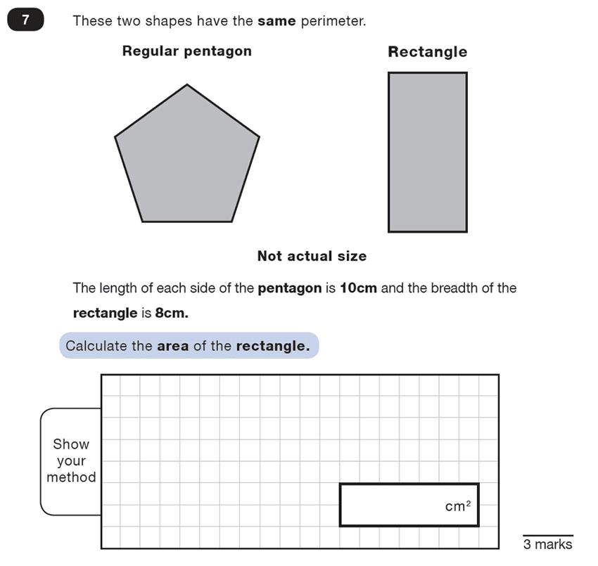 Question 07 Maths KS2 SATs Test Paper 1 - Reasoning Part C