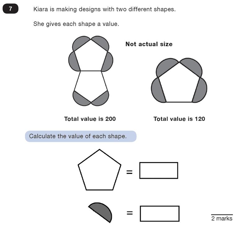 Question 07 Maths KS2 SATs Test Paper 2 - Reasoning Part C