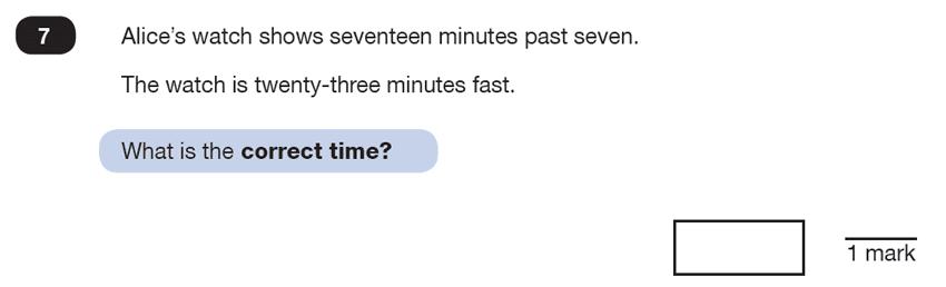 Question 07 Maths KS2 SATs Test Paper 6 - Reasoning Part B