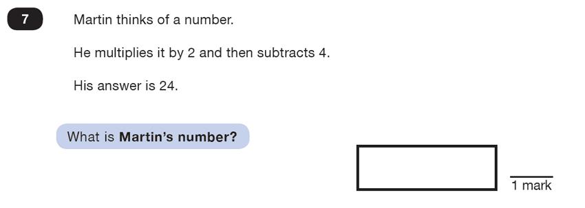 Question 07 Maths KS2 SATs Test Paper 7 - Reasoning Part B