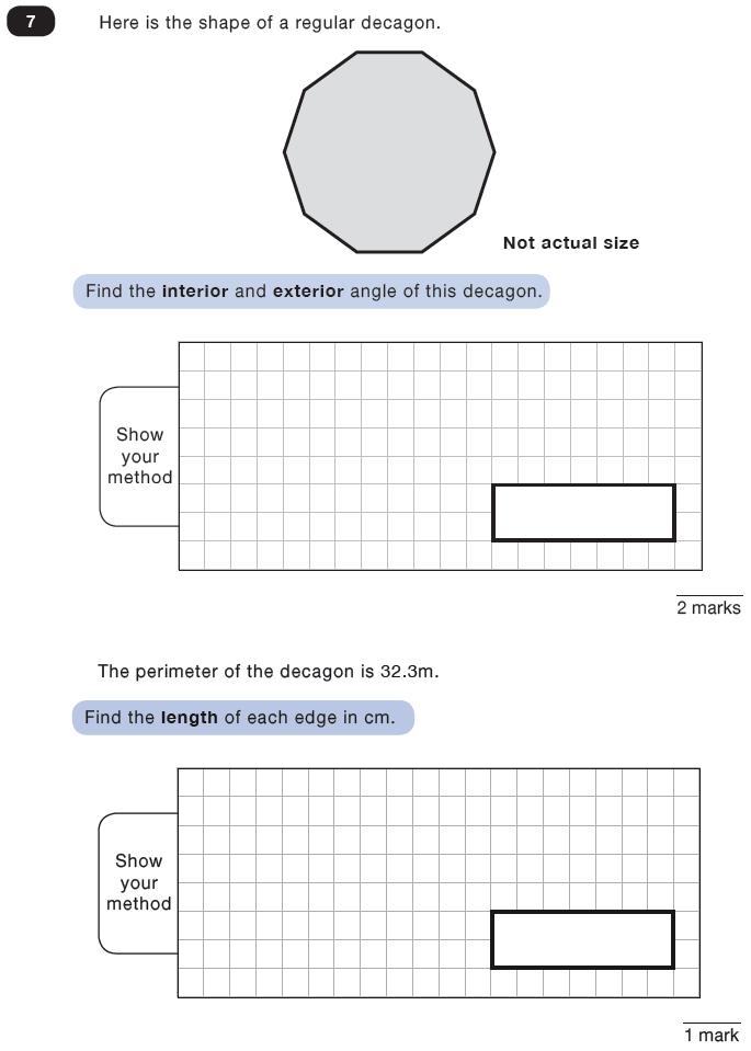 Question 07 Maths KS2 SATs Test Paper 8 - Reasoning Part C
