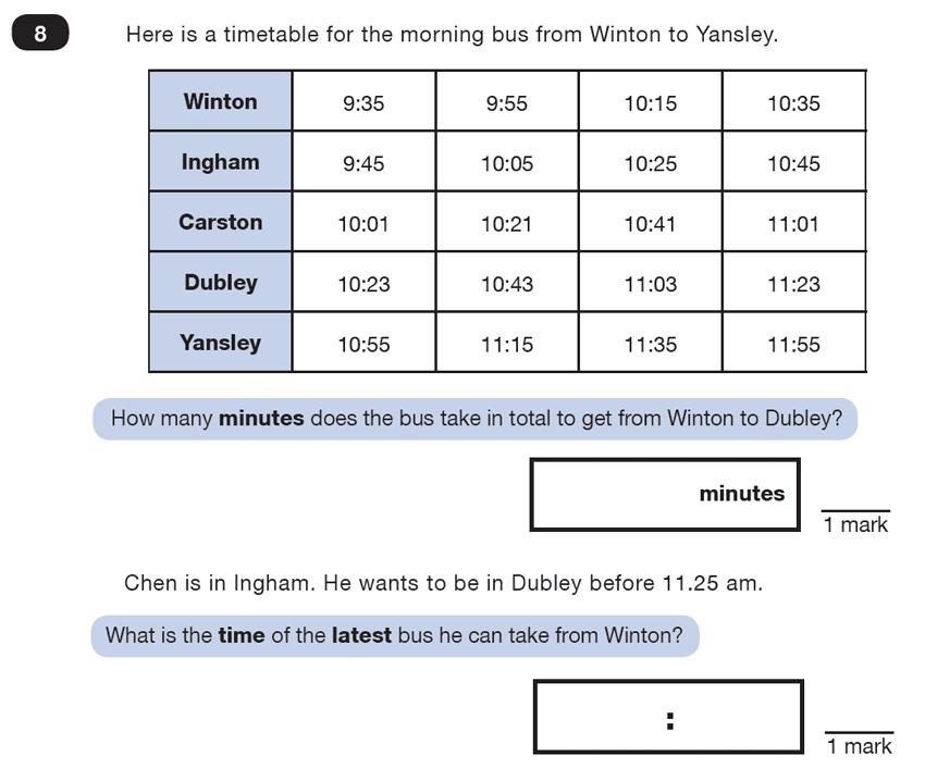 Question 08 Maths KS2 SATs Test Paper 4 - Reasoning Part C