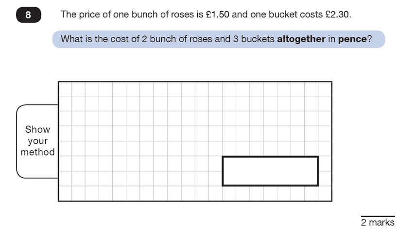 Question 08 Maths KS2 SATs Test Paper 7 - Reasoning Part C