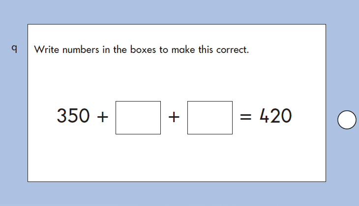 Question 09 Maths KS1 SATs Papers 2004 - Year 2 Test Paper 2, Calculations, Addition, Subtraction