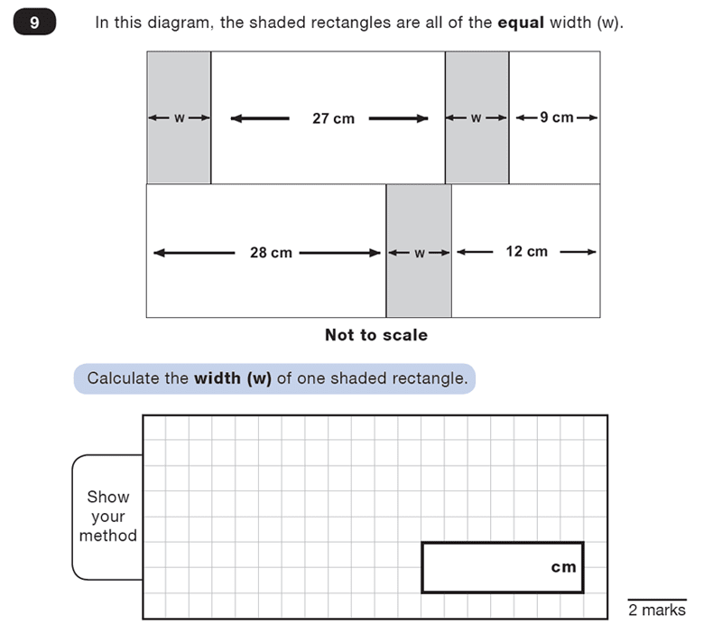 Question 09 Maths KS2 SATs Test Paper 2 - Reasoning Part B