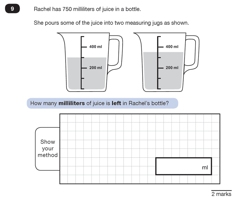 Question 09 Maths KS2 SATs Test Paper 2 - Reasoning Part C