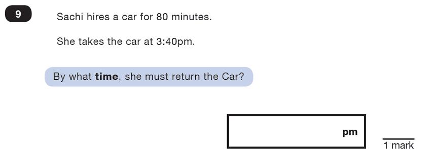 Question 09 Maths KS2 SATs Test Paper 4 - Reasoning Part B