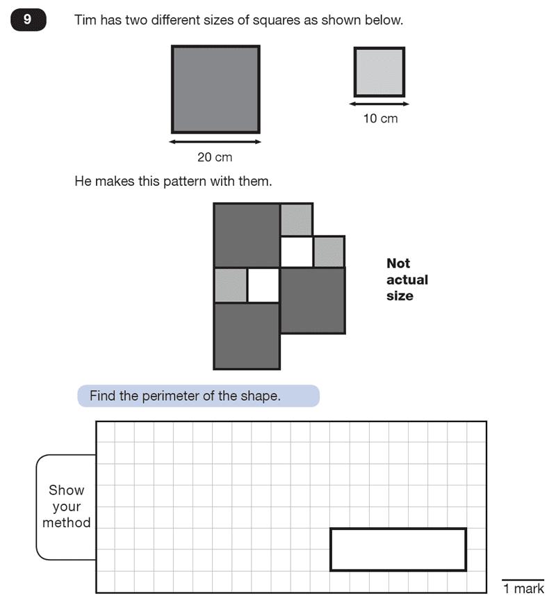 Question 09 Maths KS2 SATs Test Paper 8 - Reasoning Part B