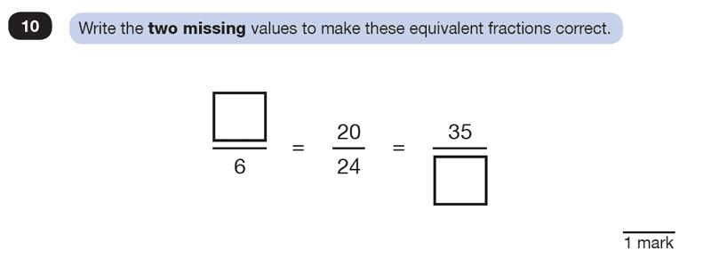 Question 10 Maths KS2 SATs Test Paper 2 - Reasoning Part C