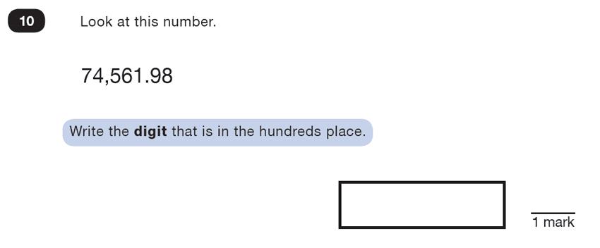 Question 10 Maths KS2 SATs Test Paper 3 - Reasoning Part B