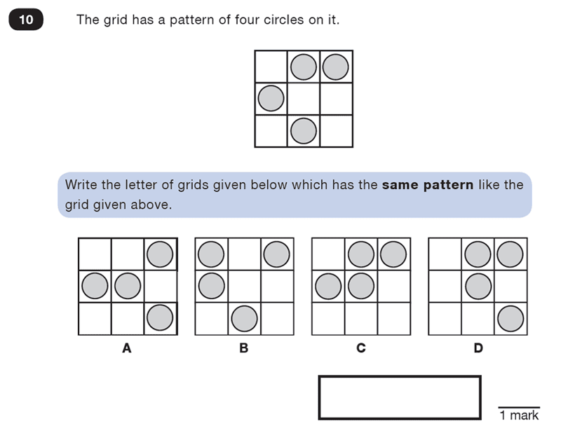 Question 10 Maths KS2 SATs Test Paper 4 - Reasoning Part C