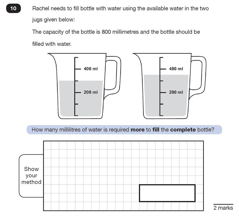 Question 10 Maths KS2 SATs Test Paper 7 - Reasoning Part C