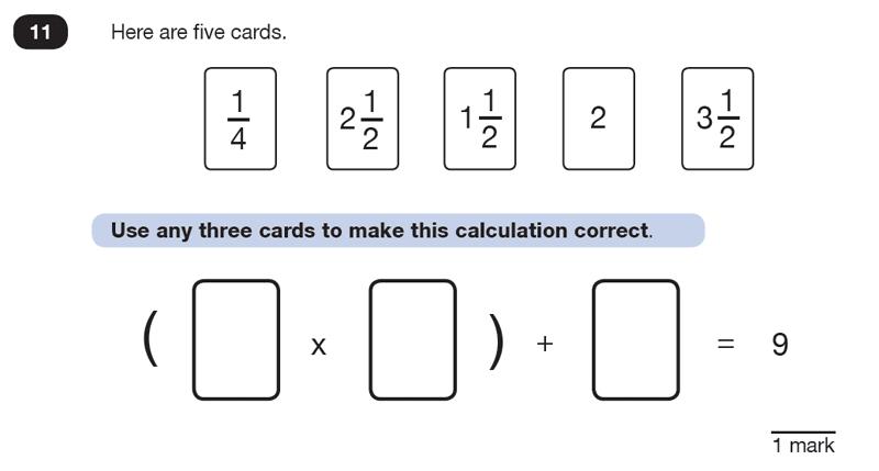 Question 11 Maths KS2 SATs Test Paper 8 - Reasoning Part B