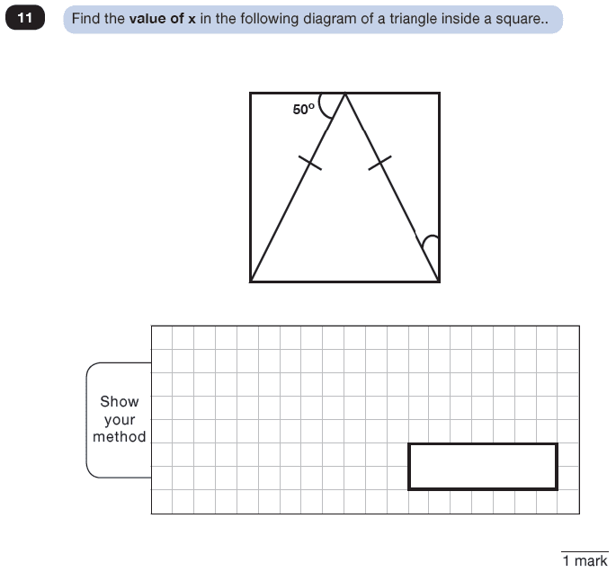 Question 11 Maths KS2 SATs Test Paper 8 - Reasoning Part C