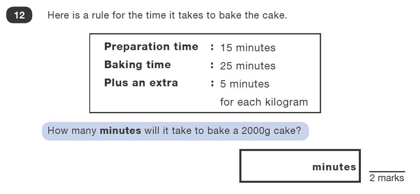 Question 12 Maths KS2 SATs Test Paper 1 - Reasoning Part B