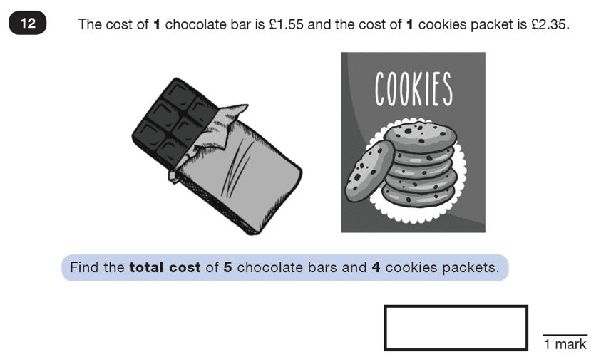 Question 12 Maths KS2 SATs Test Paper 1 - Reasoning Part C