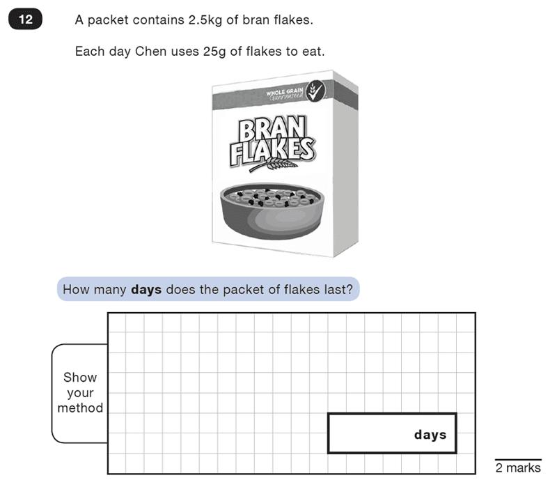 Question 12 Maths KS2 SATs Test Paper 4 - Reasoning Part B