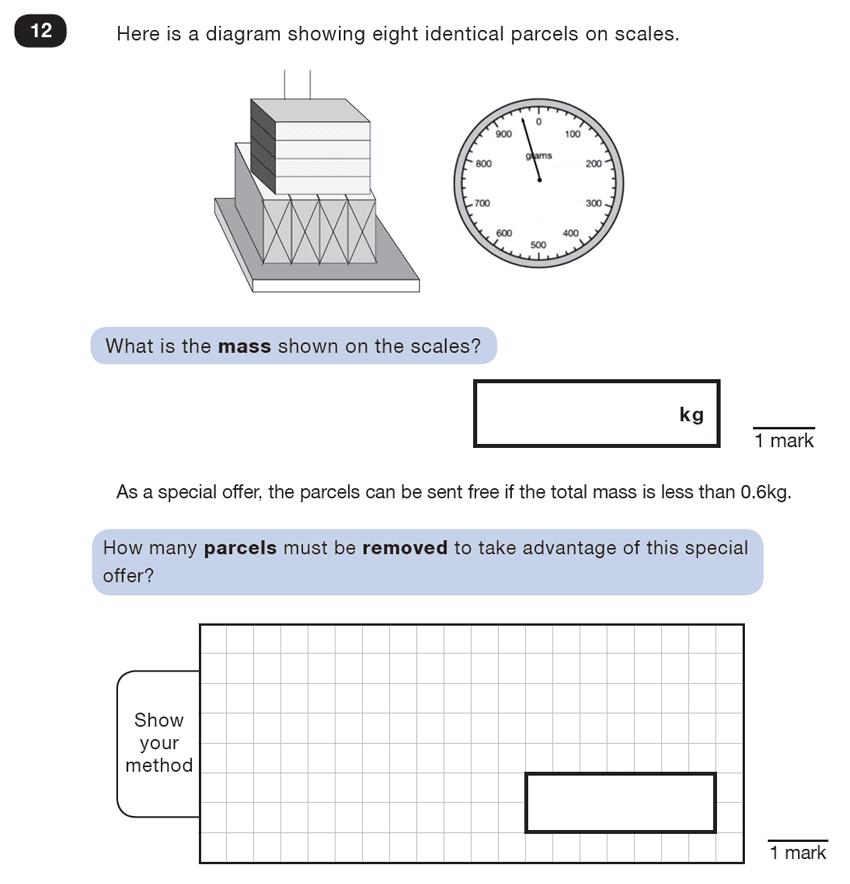 Question 12 Maths KS2 SATs Test Paper 5 - Reasoning Part B